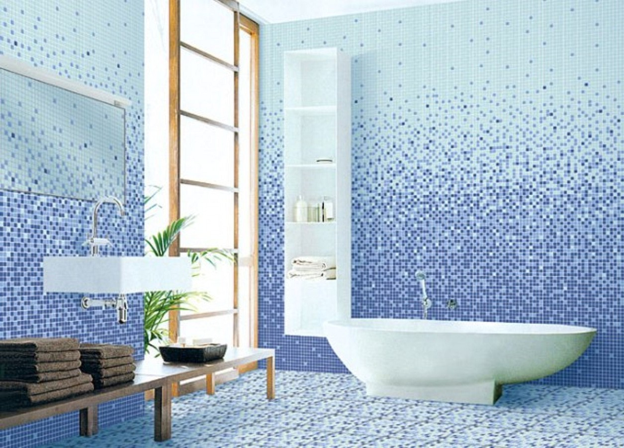 bathroom : Astounding Blue Bathroom Tile Ideas White And Ceramic ...