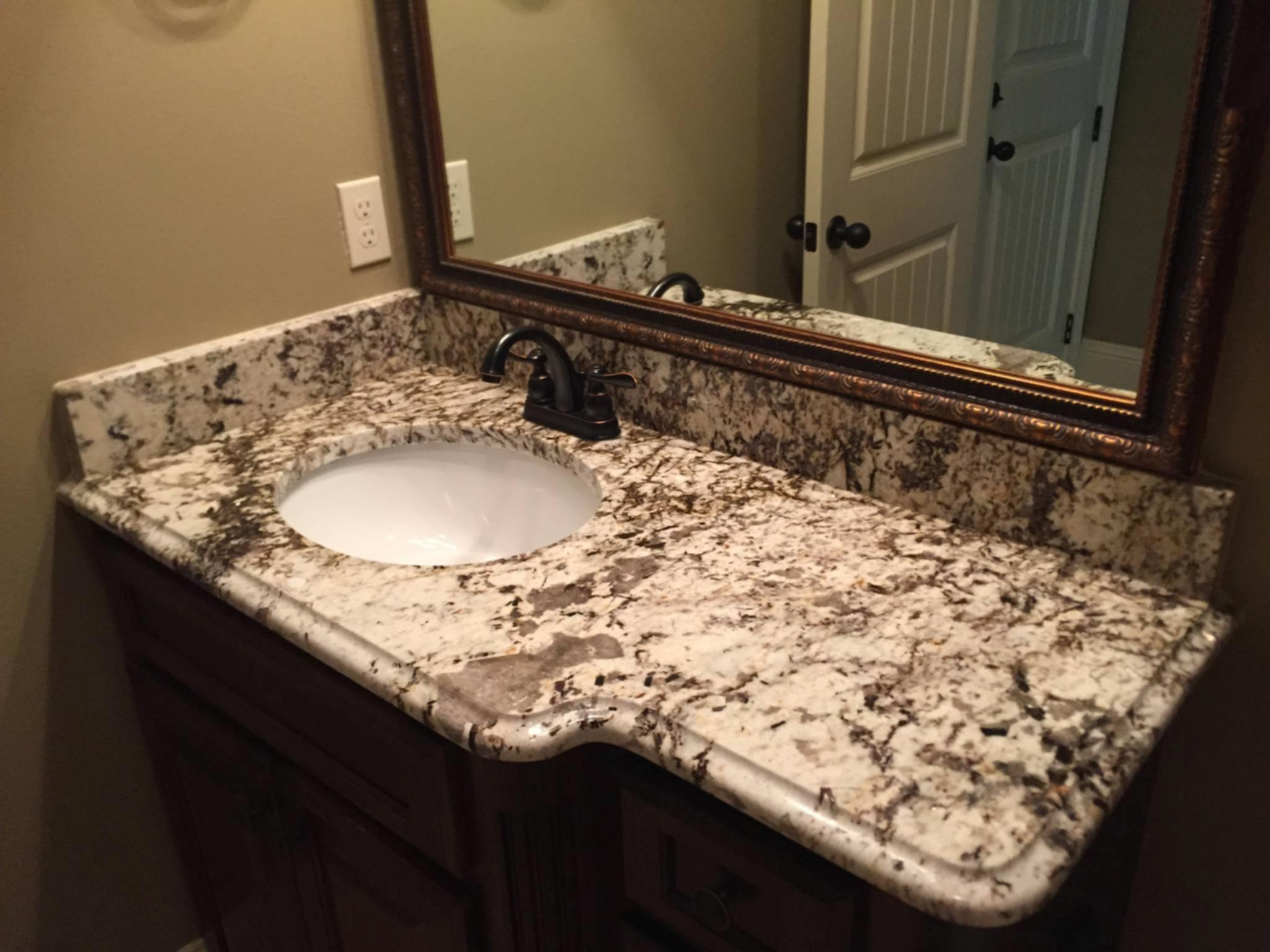 Bathroom bathroom granite countertops in replace for Replace bathroom countertop